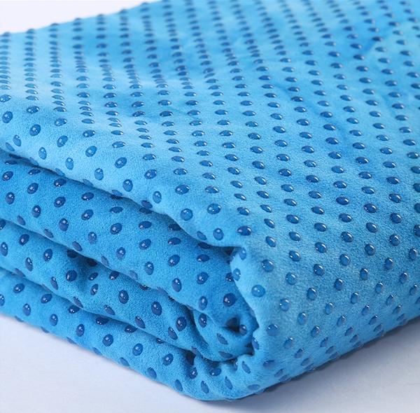 安庆桃皮绒硅胶点瑜伽铺巾