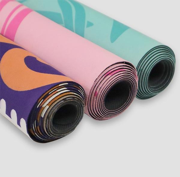 单色花防滑瑜伽健身垫