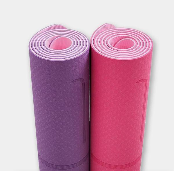 安庆双色体位线瑜伽垫